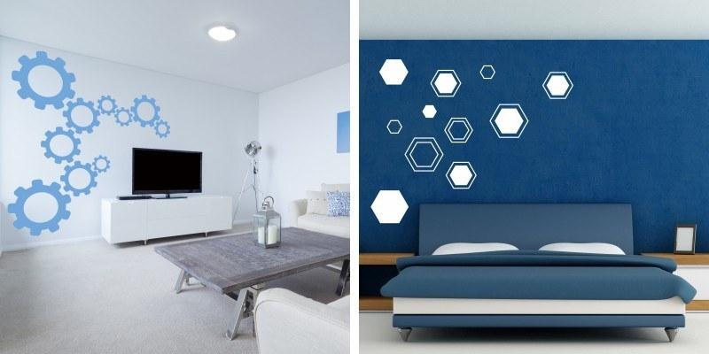 Dekorativne nalepke za bivalne in spalne prostore