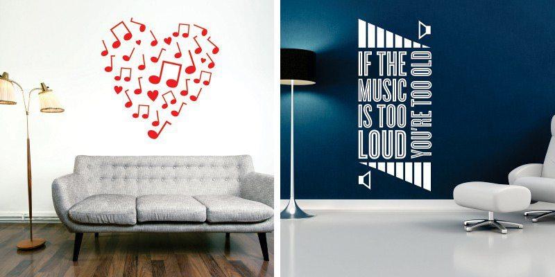 Otroške stenske nalepke - glasba
