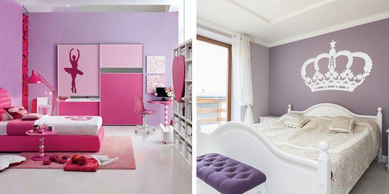 Otroške stenske nalepke - princeske in balerine