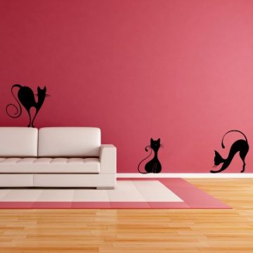 Stenska nalepka - prefinjene mačke