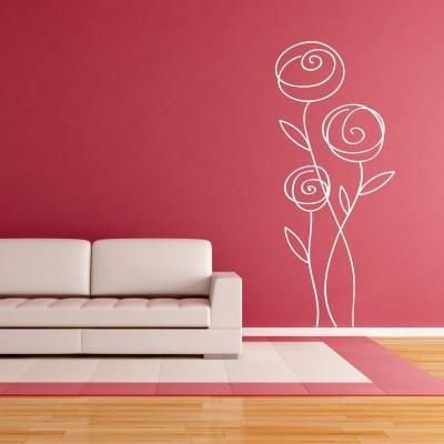 Abstraktna nalepka - Rože